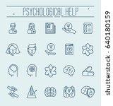 set symbols of psychological... | Shutterstock .eps vector #640180159