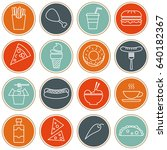 food   drink icon set | Shutterstock .eps vector #640182367