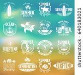 summer typography design... | Shutterstock .eps vector #640183021