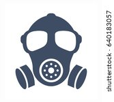 Gas Mask Vector Silhouette Sign ...