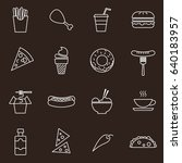 food   drink icon set | Shutterstock .eps vector #640183957