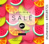 vector illustration of summer... | Shutterstock .eps vector #640185721