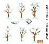 vector image. a set of winter... | Shutterstock .eps vector #640186555