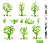 vector image. a set of abstract ...   Shutterstock .eps vector #640186789