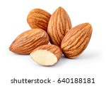 Almond Isolated. Group Of Nuts...