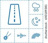 Sky Icon. Set Of 6 Sky Outline...