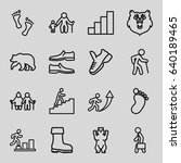 walking icons set. set of 16... | Shutterstock .eps vector #640189465