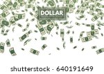 falling dollars. wealth and... | Shutterstock .eps vector #640191649