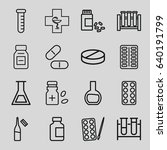 pharmaceutical icons set. set... | Shutterstock .eps vector #640191799