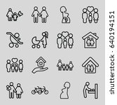 mother icons set. set of 16... | Shutterstock .eps vector #640194151