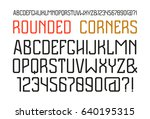 sanserif font with rounded... | Shutterstock .eps vector #640195315