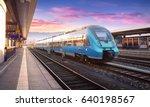 beautiful view with modern high ... | Shutterstock . vector #640198567
