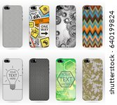 set of mobile phone covers. | Shutterstock .eps vector #640199824