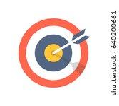 target and arrow icon. bullseye ... | Shutterstock .eps vector #640200661