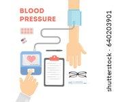 blood pressure checking. | Shutterstock .eps vector #640203901