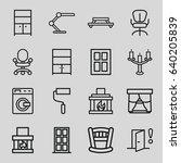 interior icons set. set of 16... | Shutterstock .eps vector #640205839