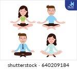 meditation. people character....   Shutterstock .eps vector #640209184