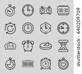 minute icons set. set of 16... | Shutterstock .eps vector #640209709