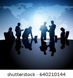 business group. team working in ... | Shutterstock .eps vector #640210144