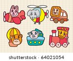 animal in transport | Shutterstock .eps vector #64021054
