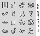 boy icons set. set of 16 boy... | Shutterstock .eps vector #640216735