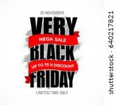 black friday sale inscription...   Shutterstock . vector #640217821