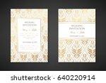 vintage wedding invitation... | Shutterstock .eps vector #640220914