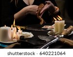 witch refer to the dark forces... | Shutterstock . vector #640221064