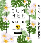 vector illustration of summer... | Shutterstock .eps vector #640223845