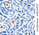 seamless pattern with different ... | Shutterstock .eps vector #640224937
