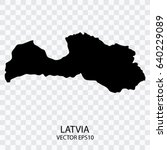 transparent   vector black map... | Shutterstock .eps vector #640229089
