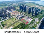 hight rise condominium and... | Shutterstock . vector #640230025