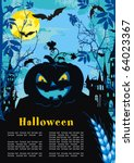 halloween terrible vector... | Shutterstock .eps vector #64023367