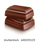 milk chocolate bar vector... | Shutterstock .eps vector #640235125