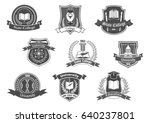 college  university and academy ... | Shutterstock .eps vector #640237801