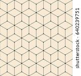 seamless geometric pattern.... | Shutterstock .eps vector #640239751