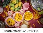 thai style tropical dessert... | Shutterstock . vector #640240111