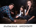young people thinking and... | Shutterstock . vector #640243699