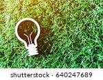 lamp on green grass background  | Shutterstock . vector #640247689