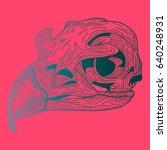 gradient pink blue skull of a...   Shutterstock .eps vector #640248931
