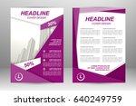 vector flyer template layout... | Shutterstock .eps vector #640249759