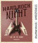 hard rock night party flyer.... | Shutterstock .eps vector #640253611
