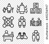 together icons set. set of 9... | Shutterstock .eps vector #640256947