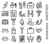 businessman icons set. set of... | Shutterstock .eps vector #640257025