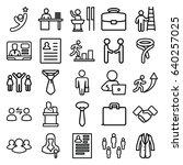 businessman icons set. set of... | Shutterstock .eps vector #640257025