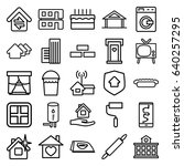 home icons set. set of 25 home... | Shutterstock .eps vector #640257295