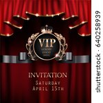 Vip Invitation Card With Red...