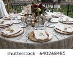 a set circular wedding... | Shutterstock . vector #640268485
