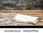 selective focus is an empty...   Shutterstock . vector #640269901