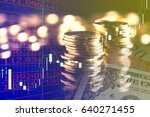 forex currency trading concept  ... | Shutterstock . vector #640271455